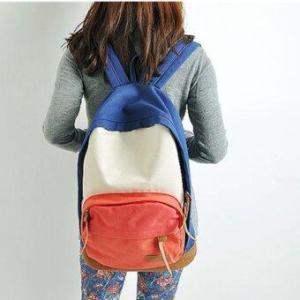 Crvid กระเป๋าเป้สะพายหลัง กระเป๋าแฟชั่น รุ่น F-10013(Blue+red)