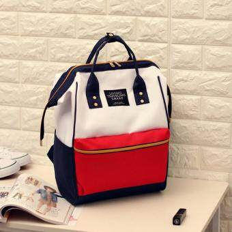 Marverlous กระเป๋า กระเป๋าเป้ กระเป๋าสะพายหลัง Backpack No.2017 - White Red