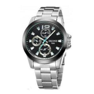 SKONE นาฬิกาข้อมือผู้ชาย รุ่น SKB7063 (Black)