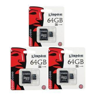 Kingston เมมโมรี่การ์ด Micro SDHC 64 GB Class 10 3cps