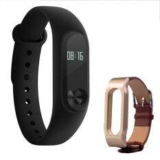 "Xiaomi 0.42"" OLED Touch Screen Mi Band 2 Smart Bracelet + Leather Band - intl"