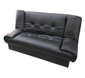 ENZIO โซฟาปรับนอนใหญ่พิเศษ หุ้มหนังอย่างดี รุ่น Nature-2 (สีดำ)คละแบบ 2ที่นั่ง