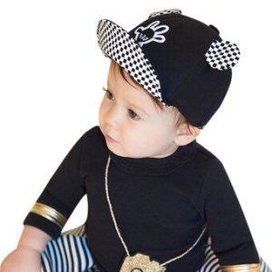 เด็กหนุ่มเด็กสาวสวมหมวกหมวกกันแดด (สีดำ)