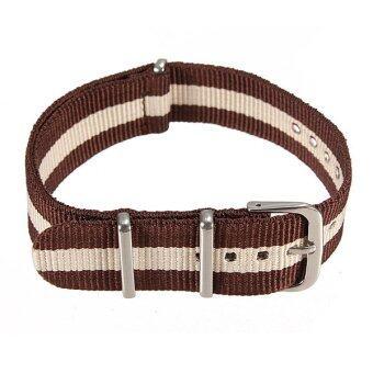 Universal 18mm Durable Men's Military Nylon Wrist Watch Band Strap260mm 54# - Intl