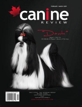 Imagem capa da Revista Canine Review Canadá