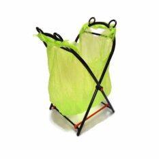 DD_Pro 1 แถม 1 ขาแขวนถุงขยะ เอนกประสงค์ ขนาด ก*23x ล*21x ส*43 ซม. คละสี
