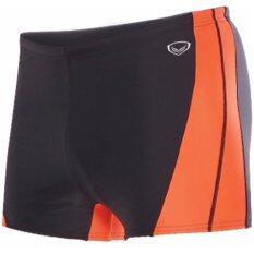GRAND SPORT กางเกงว่ายน้ำชายขาสั้น (สีดำ-ส้ม)