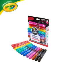 [ส่งฟรี+ใช้โค้ดลดอีก]Crayola Take Note 12 Colors Board Line Low Odor Whiteboard Marker  เครโยล่า สีเมจิกเขียนไวท์บอร์ดหัวใหญ่ 12 สี สำหรับเด็ก อายุ 10 ปี ขึ้นไป สีเมจิก  เมจิก ปากกาไวท์บอร์ด