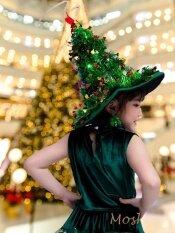 หมวกคริสต์มาส  หมวกต้นคริสต์มาส Free Size  มีไฟกระพริบ หมวกงานปาร์ตี้ หมวกงานปีใหม่ หมวก