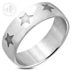 555jewelry แหวนสแตนเลส แหวนแฟชั่น ดีไซน์แหวนเรียบๆลายดาว แหวนผู้ชาย Fashion Jewelry Men Ring รุ่น MNC-R752(R28)