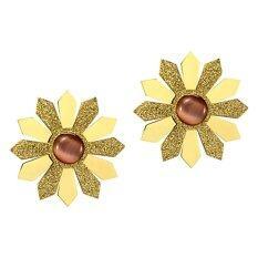 555jewelry ต่างหูสตั๊ด สแตนเลส สตีล รูปทรงดอกไม้ รุ่น MNC-ER304 - ต่างหูแฟชั่น ต่างหูผู้หญิง ต่างหูสวยๆ (ER17)