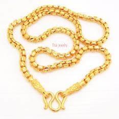 Thai Jewelry สร้อยคอ ทองคำ งานทองชุบไมครอน ชุบด้วยเศษทองคำแท้ 96.5 % หนัก 3 บาท ความยาว 20,24 นิ้ว เครื่องประดับ ทองชุบ ทองหุ้ม เกรดพรีเมี่ยม