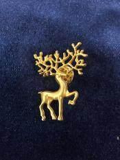 PIN เข็มกลัดติดปกเสื้อสูท รูปกวาง สีทอง