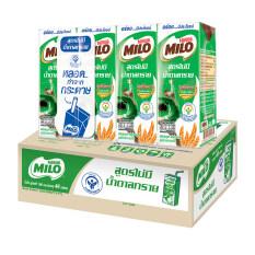 ไมโล นมยูเอชที รสช็อกโกแลตมอลต์ สูตรไม่มีน้ำตาลทราย 180 มล. 48 กล่อง