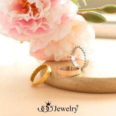 555jewelry แหวน รุ่น MNR-217G-B  (Yellow Gold)แหวนผู้หญิง แหวนคู่ แหวนคู่รัก เครื่องประดับ แหวนทองผู้หญิง แหวนแฟชั่น