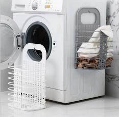 OK-ตะกร้าเก็บของแบบพับเก็บได้ตะกร้าเก็บเสื้อผ้าตะกร้าผ้าแขวนพลาสติก