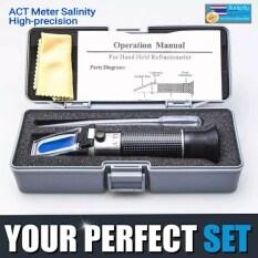 เครี่องวัดความเค็ม เครื่องวัดเกลือ ในอาหาร น้ำทะเล ATC Meter Salinity Measuring Refractive มีกล่องเก็บเครื่องมืออย่างดีพกพาสะดวก สินค้าในไทยพร้อมส่งทันที