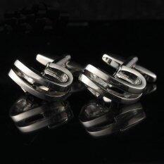 twilight  CUFF LINKS เส้นขนานโค้งเงิน - รุ่น I501(Silver)