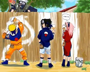 LOL! *Kakashis so funny with that book in his hand*