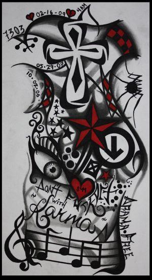 cross sleeve tattoos tribal arm sleeve tattoos