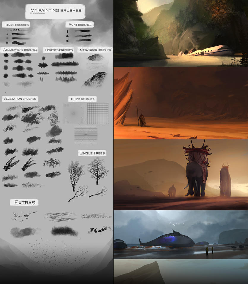 Huge collection of brushes for photoshop