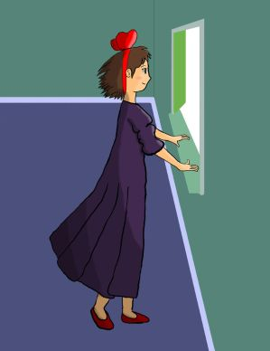 A piece of Fanart for Kiki's Flying Delivery Service, by me.