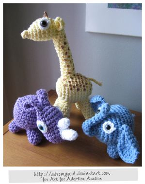 Amigurumi for Adoption by =WireMySoul