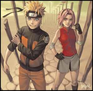 Naruto and Sakura (Shippuden)