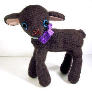 amigurumi black lamb by ~selkie