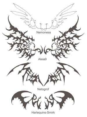 Tribal Tattoo Designs With Specially Wings Tattoo Art Picture 2