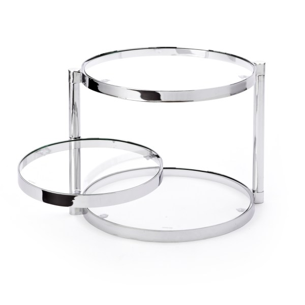 Glas Side Table Open