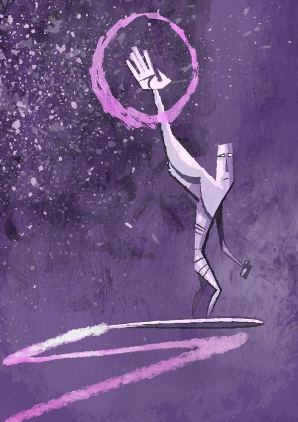 Abstracted Superheroes by Jonathan Edwards Silver Surfer