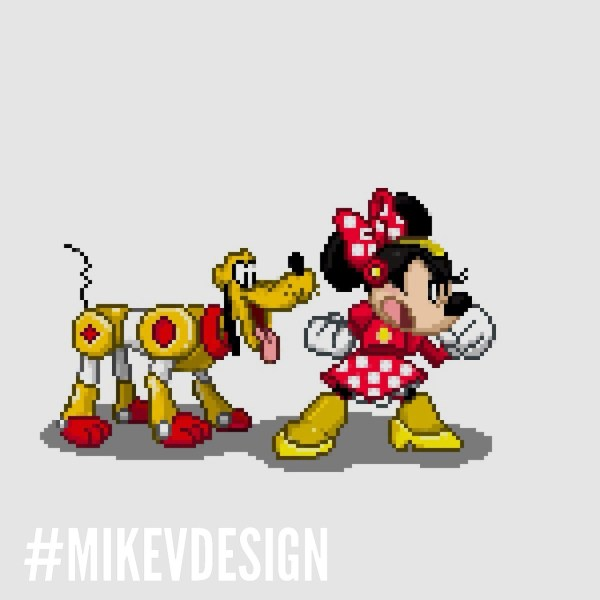 Capcom Disney Characters MikeVDesign Minnie