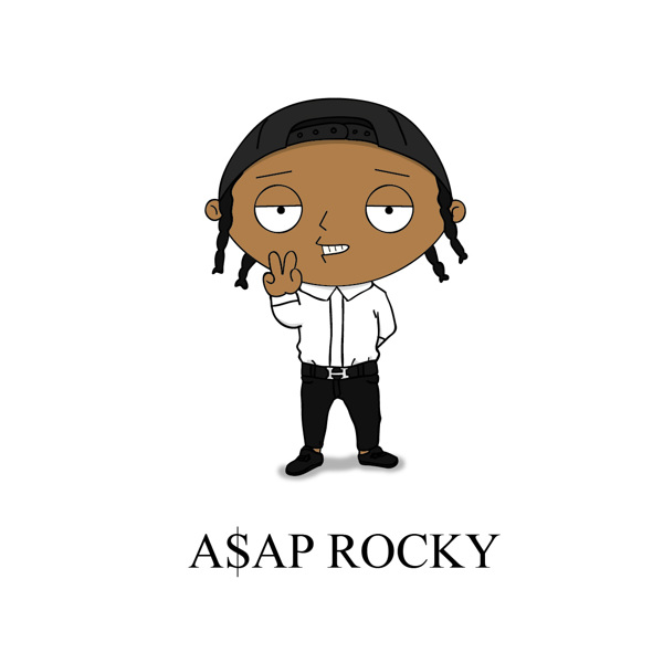 Cartoon X POP by Zhi-Yun Zhang A$ap Rocky