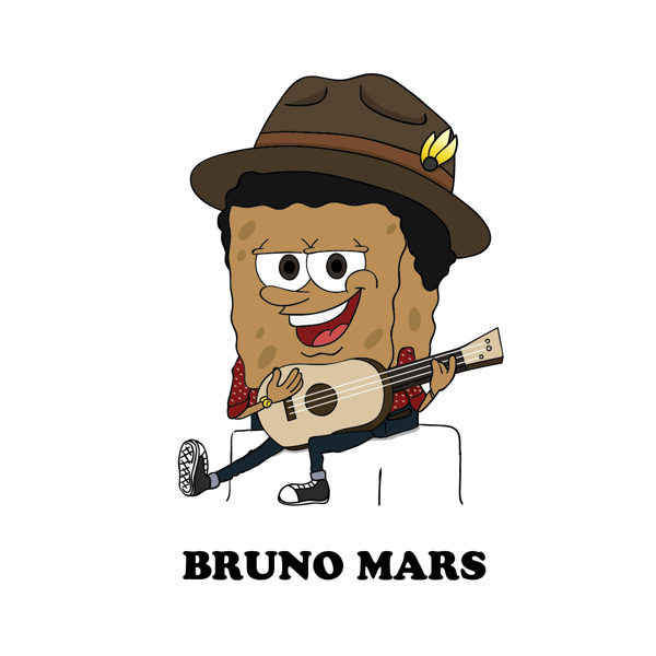 Cartoon X POP by Zhi-Yun Zhang Bruno mars
