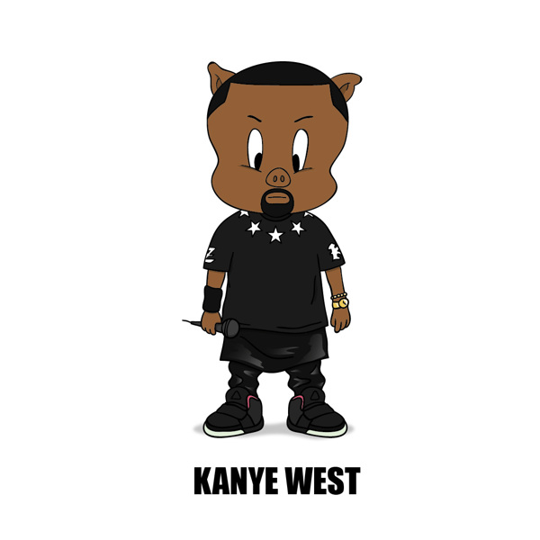 Cartoon X POP by Zhi-Yun Zhang kanye west