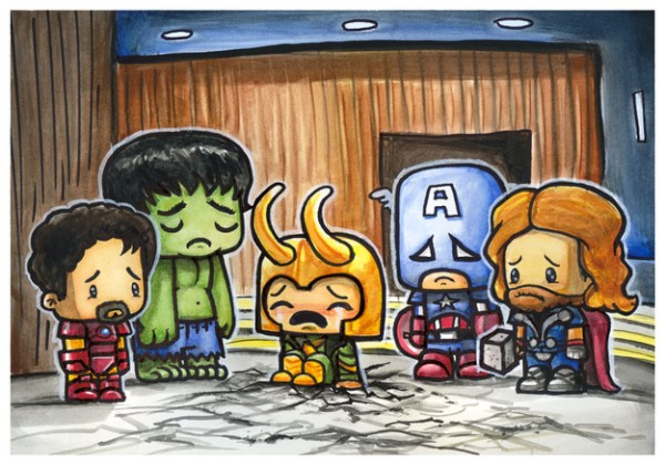 Cute Emo Pop Culture Icons Avengers