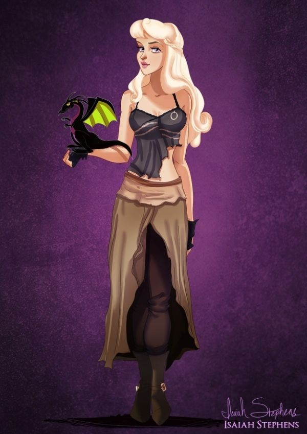 Disney Heroes Dressed Up In Awesome Halloween Costumes by Isaiah Stephens Aurora