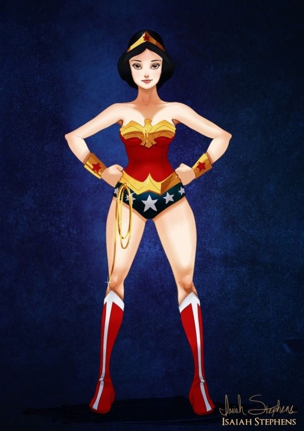 Disney Heroes Dressed Up In Awesome Halloween Costumes by Isaiah Stephens Snow White
