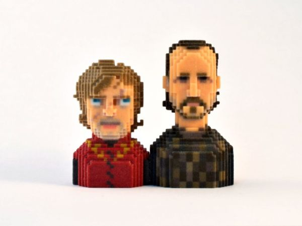 Game of Thrones in Pixels by Leblox Tyrion & Bron