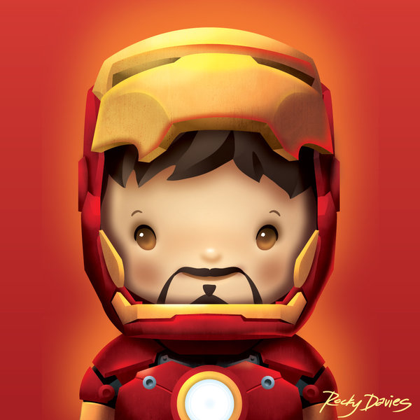 Kid Heroes by Rocky Davies Iron Man