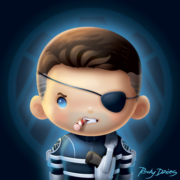 Kid Heroes by Rocky Davies Nick Fury