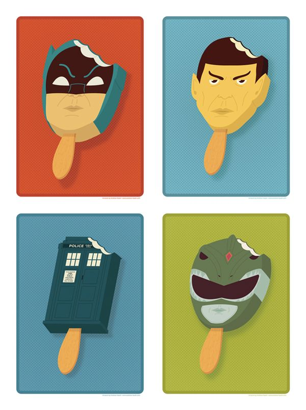 Pop Culture Popsicles illustration by Andrew Heath 02