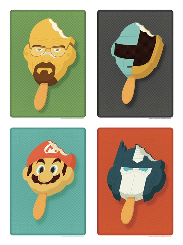 Pop Culture Popsicles illustration by Andrew Heath 03