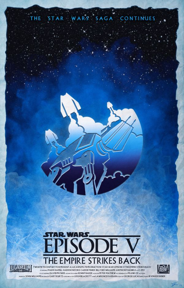 Star Wars Episode Poster by Daniele Red Rossini V