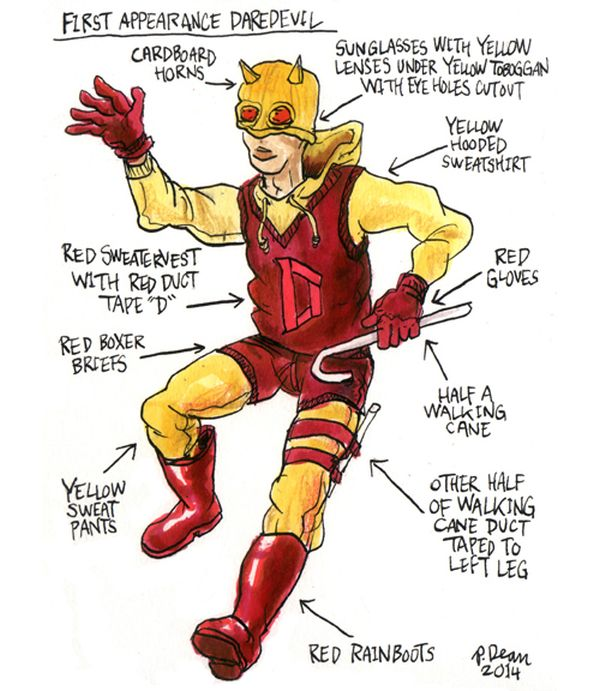 half assed cosplay ideas by patrick dean first appearance daredevil