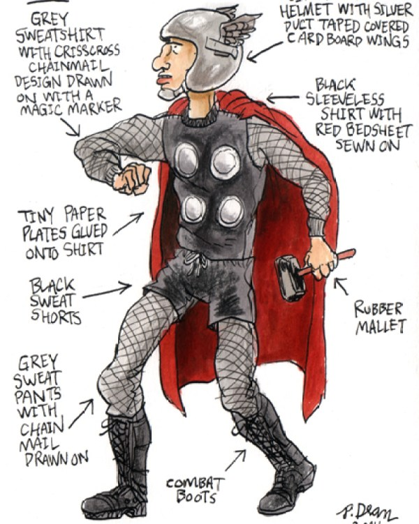 half assed cosplay ideas by patrick dean thor