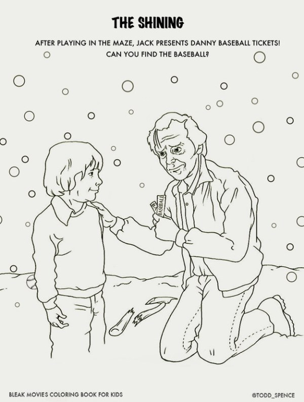 Bleak Movies Coloring Book Shining
