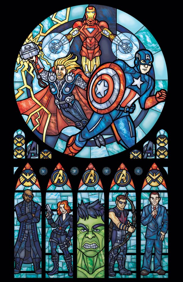Iconic Stained Glass Avengers