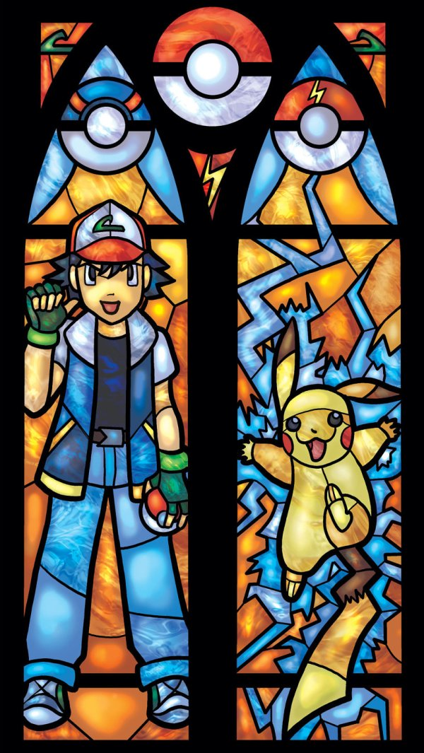 Iconic Stained Glass Pokemon